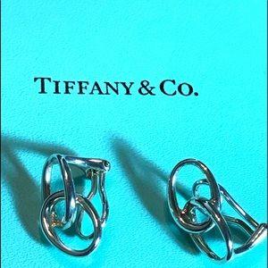 Tiffany & Co. Jewelry - Tiffany & Co. Interlocking Oval  Clip On Earrings